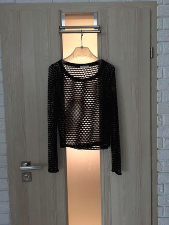 Czarna bluzka z siateczki