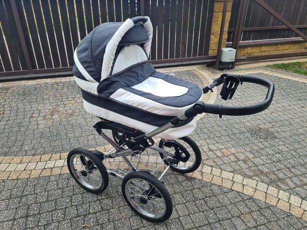 Wózek Leo baby Merc dziecięcy wielofunkcyjny 3w1 biało szary Polecam