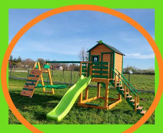 """Super bajkowy XL """"Prosty domek"""" ogrodowy plac zabaw dla dzieci"""