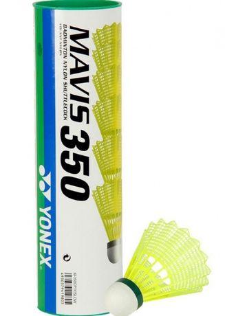 Воланы для бадминтона Yonex ( mavis 350, зелёный) 6шт в коробке