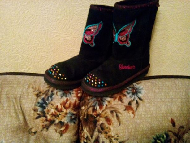 Обувь девичья.Сапоги.Р30.Skechers.