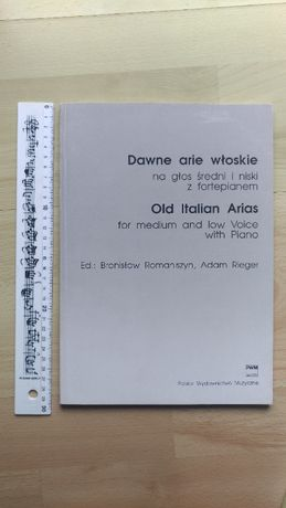 Dawne arie włoskie na głos średni i niski z fortepianem