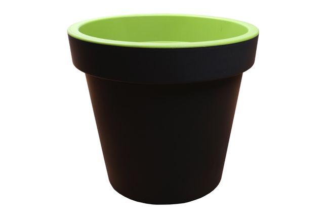 Donica okrągła XL zielona plastikowa doniczka szara WYSYŁKA!