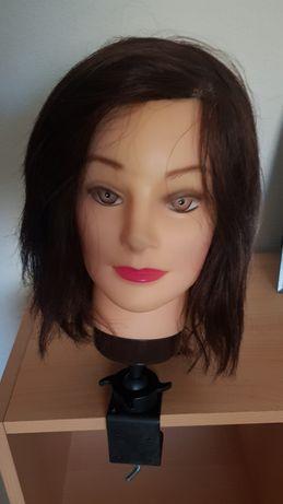 Cabeça boneca para treino cabeleireira cabelo natural