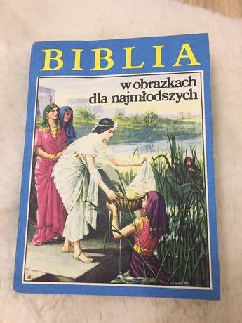 """Książka """"Biblia w obrazkach dla najmłodszych"""" dzieci"""