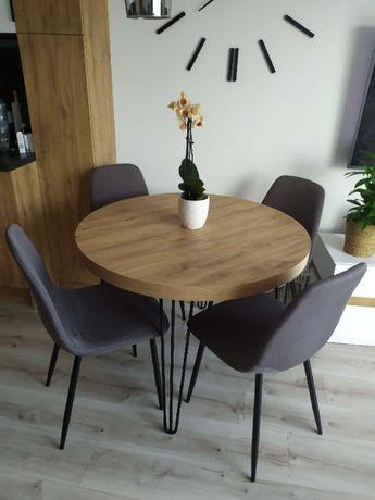 Stół okrągły, rozkładany, loft, industrial