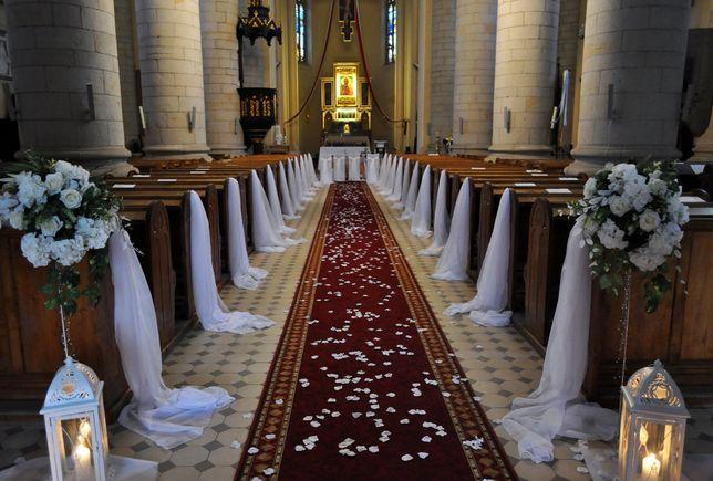 Dekoracja kościoła na ślub, dekoracja samochodu
