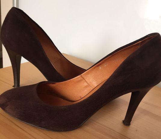 Zamszowe buty Kaniowski skóra naturalna 37