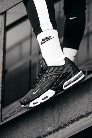 Мужские кроссовки Nike Air Max Plus 3 Black/White найк новинка 40-45