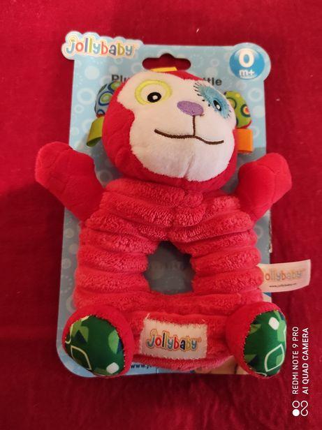 Іграшка брязкальце мавпочка плюш погремушка