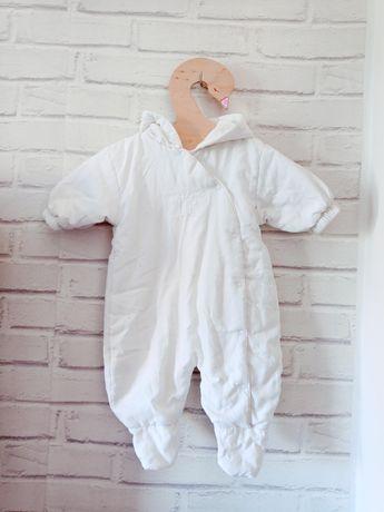 Kombinezon wiosenny jesienny biały unisex 68cm 70cm 74cm