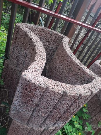 Gazon betonowy ogrodowy, wazon do ogrodu