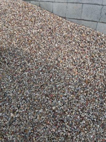 Żwir ozdobny płukany drenaż szambo do ogrodu kamień tłuczeń na wjazdy