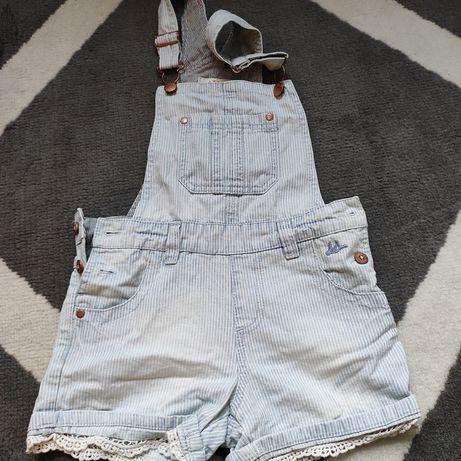 Szorty, ogrodniczki jeansowe