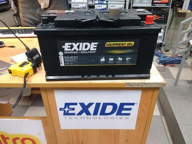 Akumulator Exide Żel ES900 Marine Łódź Camper Głębokie rozładowanie