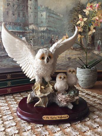 Статуетка фигурка детализированная птица сова julian collection