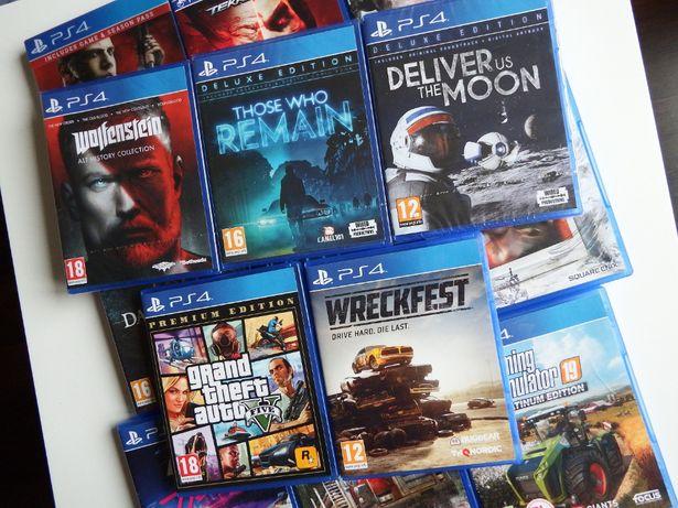PS4 GRY Farming Tekken Wolfenstein Dark Souls MAFIA GTA5 COD NFS inne