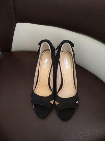 Продам туфли, черные,открыт носочек