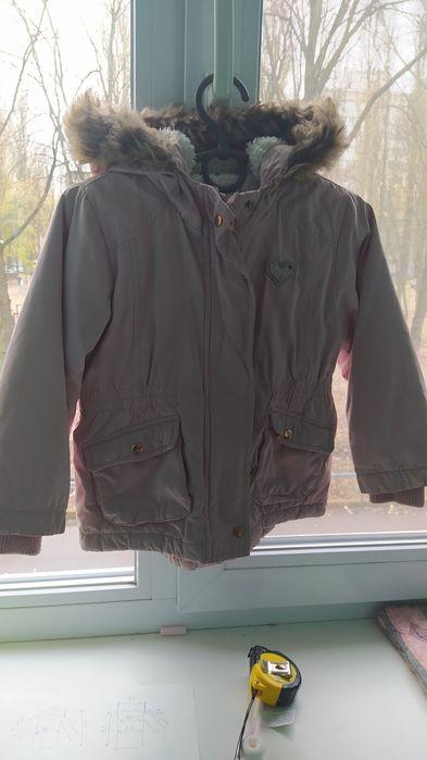 Куртка парка утеплëнная деми розовая 92-98 см. 3-4 года. Киев - изображение 1