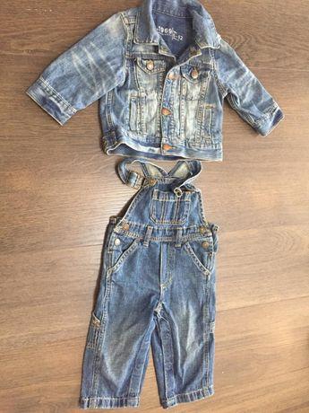 Костюм детский джинсовый Пиджак+комбез 6-12 мес. р-р 68-74-80