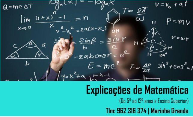 Explicações de Matemática e MACS- Marinha Grande