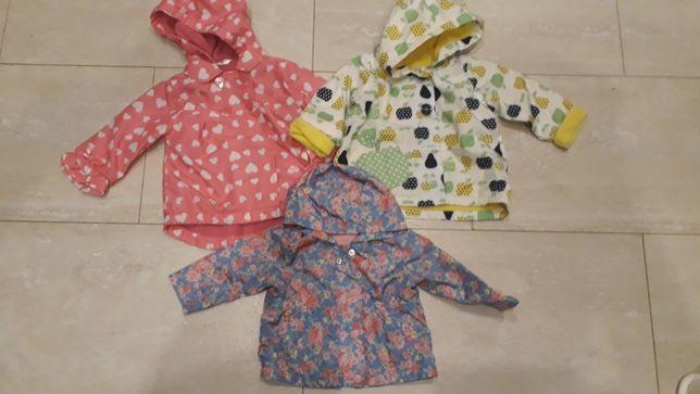Ubranka dla dzieci#kurtki 4szt.# bezrękawnik