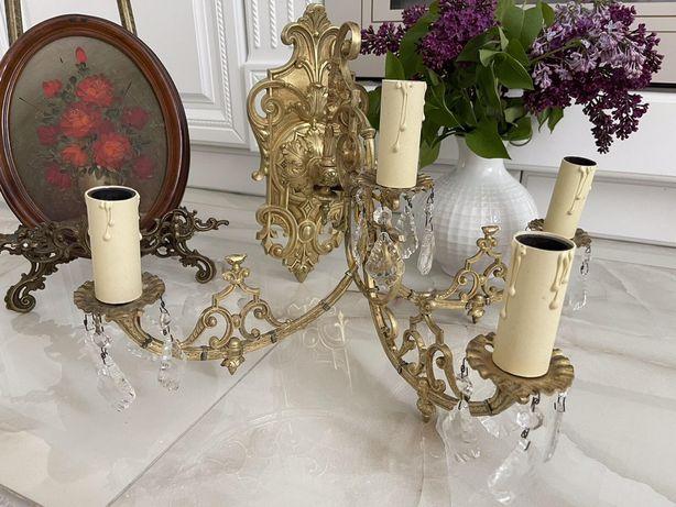 Антикварне бра,бронза хрусталь Франція кін 19ст