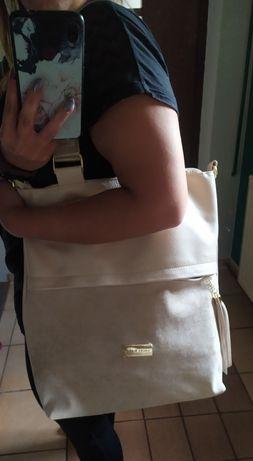Nowa torebka Laura Biaggi na ramię, do ręki, Eco skóra + zamsz,