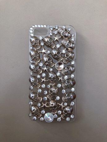Obudowa na telefon case iPhone 5s kryształtki cyrkonie