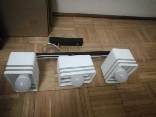 Lampa wisząca (biała) - doskonała do sypialni lub przedpokoju