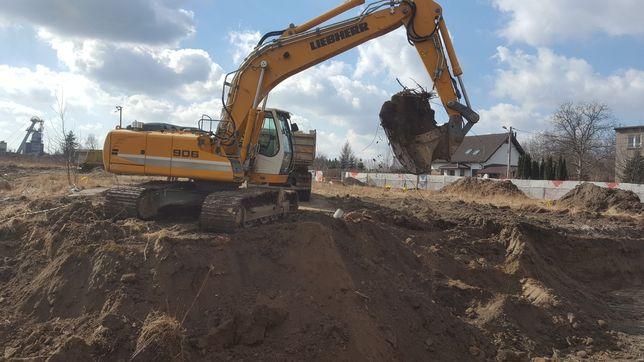 Roboty ziemne Wyburzenia Rozbiórki Kucie betonu usługi koparką wynajem