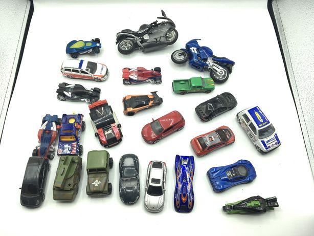 Conjunto carros e motas de marcas