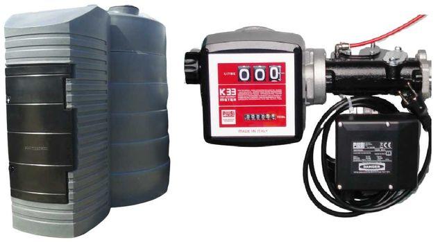 Zbiornik dwupłaszczowy na paliwo  5000L 9000L z dystrybutorem