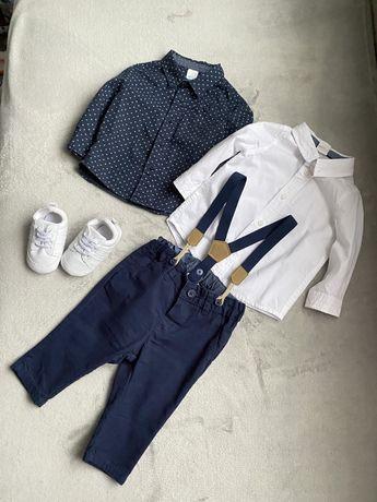 Новий набор на мальчика 2-4 месяца,рубашка,брюки,пинетки H&M(Zara,Next