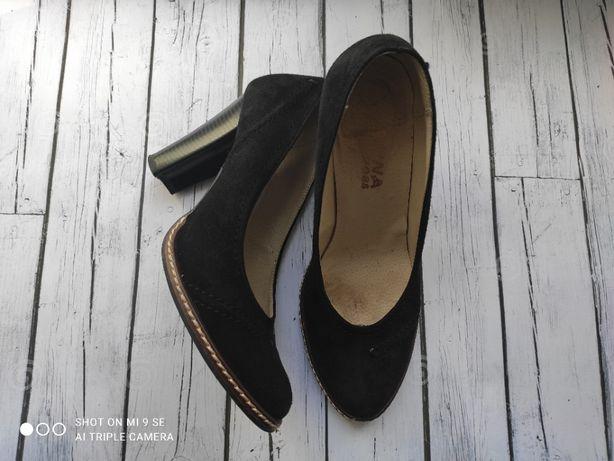 Туфли натуральный замш 25см