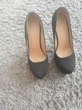 Czarne buty  zamsz