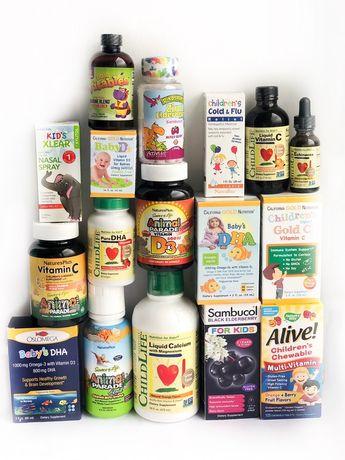 Витамин с д3 для детей iherb, мультикомплекс ехінацея