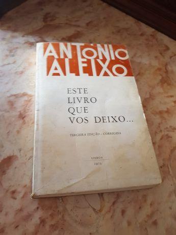 "Livro"" Antonio Aleixo "" este livro que vos deixo"