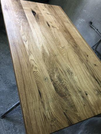 Blat debowy Drewniany 110x60x4,5 Rustykalny Styl Loft stolik Kawowy