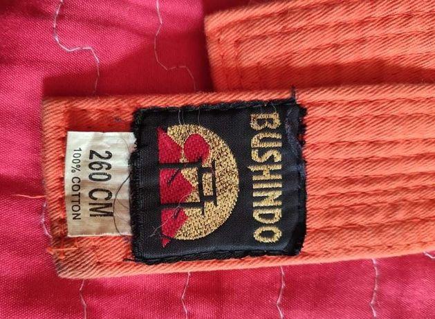 Pomarańczowy pas do kimono