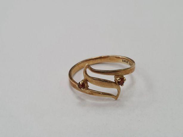Klasyczny złoty pierścionek damski/ 585/ 1.7 gram/ R14/Świętojańska 40