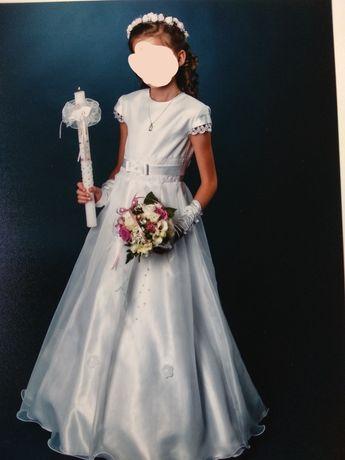 Sukienka komunijna + bolerko + dodatki
