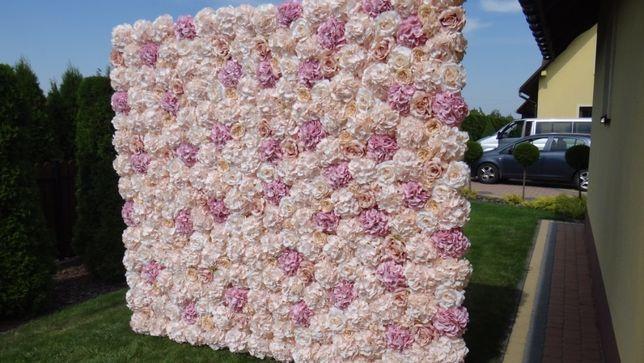 Ścianka kwiatowa weselna