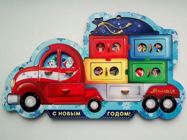 Смайл декор Новогодний грузовик Smile decor
