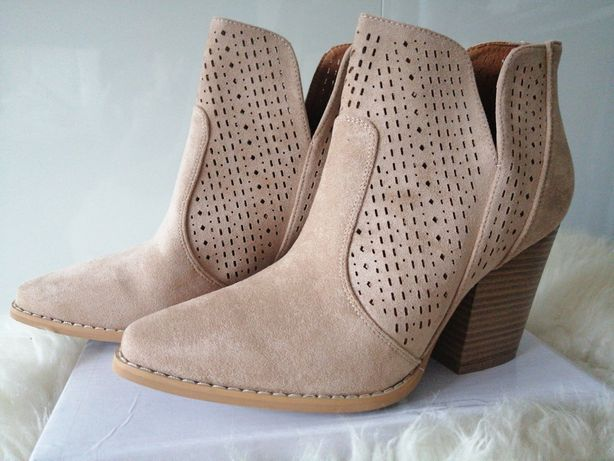 Botki ażurowe 39 nowe damskie buty