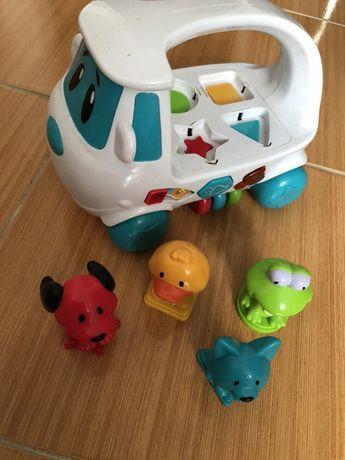 Автобус музыкальный со зверюшками бус автобус музичний розвивающий