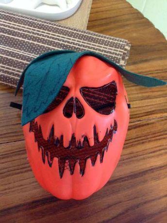 Halloween. Máscara Abóbora malvada