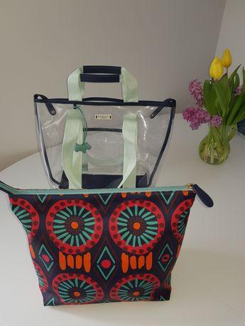 Nowa podwójna plastikowa torba plażowa Radley London