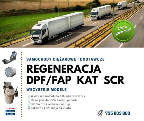 Regeneracja Czyszczenie DPF MERCEDES MP4 / Regeneracja katalizatora