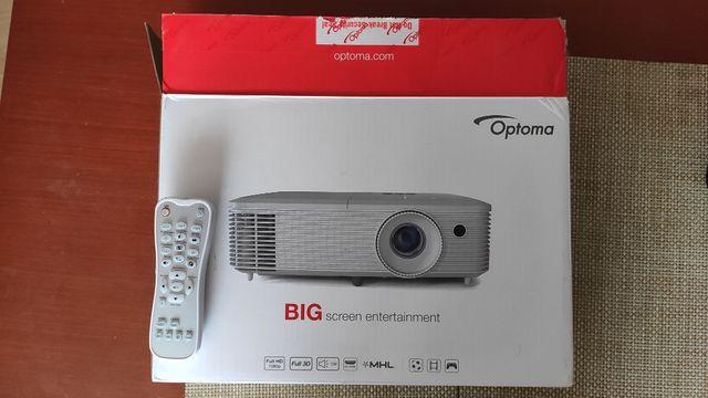 """OKAZJA Projektor Optoma HD27 DLP + Ekran 150"""" (rozwijany elektrycznie)"""